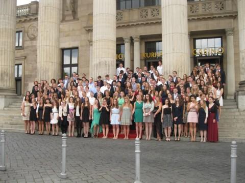 Abitur 2014: Gruppenbild vor Kurhaus