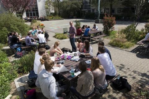 PoWi-Unterricht im Freien