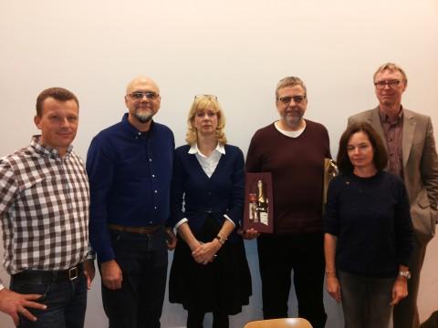 Der bisherige SEB: Thomas Zorn, Harald Holtmann, Maud Kollbach, Stephan Arnold und Silke Schultz, mit Schulleiter Thomas Heins
