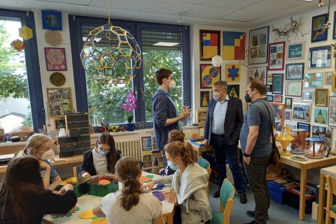 Mathothek: Besuch des Oberbürgermeisters 2021