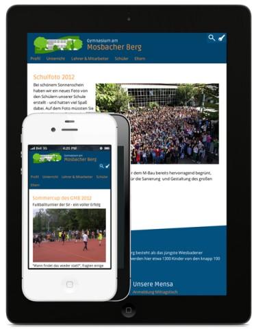 Mosbacher Berg Website auf Tablet und Smartphone