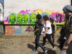Graffitiworkshop: Ankunft