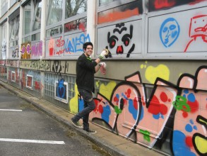 Graffitiworkshop: Jashar legt los