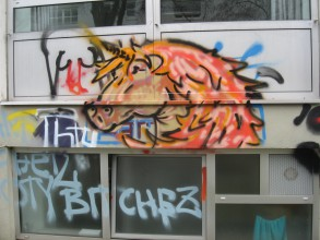 Graffitiworkshop: Miriam hat es schon voll drauf