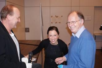 GMB-Gala: Martin Dürr mit Frau Glocker und Herrn Peich, die durch das Programm führten