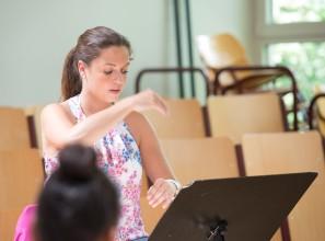 Frau Glocker - Leiterin der Concert Band