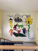 Wandmalerei im M-Bau