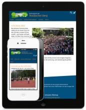 Mosbacher Berg Website Tablet und Smartphone Ansicht